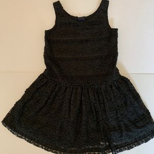 Gap girls black lace holiday dress